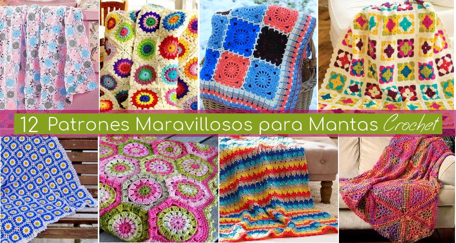 42a04b7c8 12 Patrones Maravillosos para Mantas a Crochet   Colchas en crochet ...