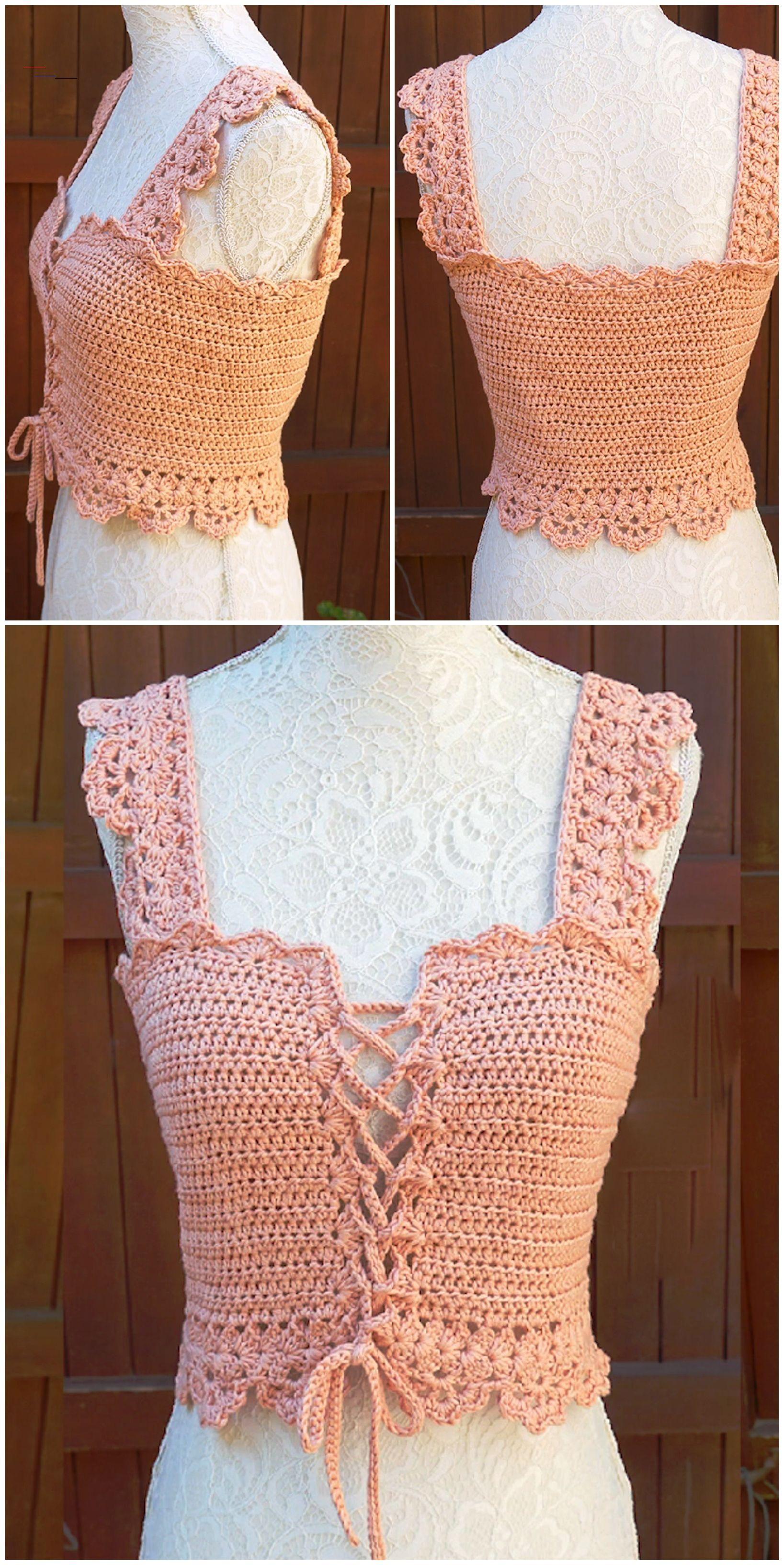 Crochet stylish corset top we love crochet
