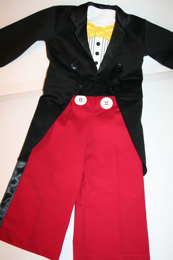 Mickey Mouse Celebration Tuxedo Vest and Bow Tie