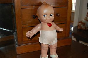 "Antique Kewpie Original Rose O'Neill 11"" Doll Signed Composition"