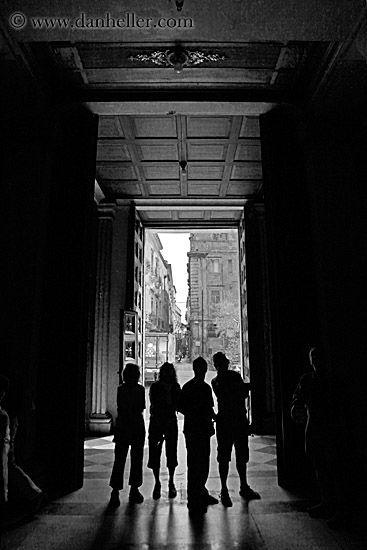 people- silhouettes-n- open- door