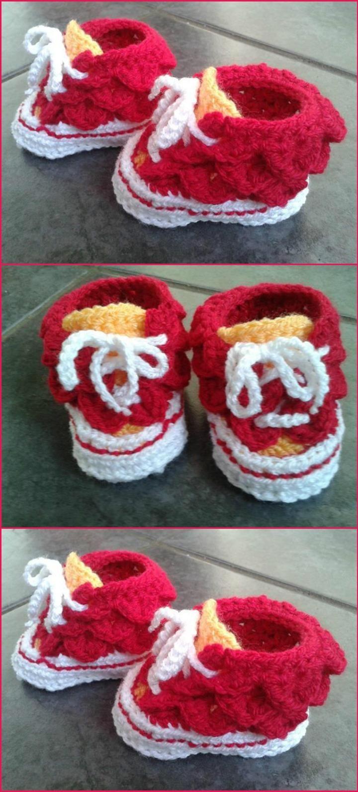 Crochet Baby Booties - Top 40 Free Crochet Patterns | Zapatos niño y ...