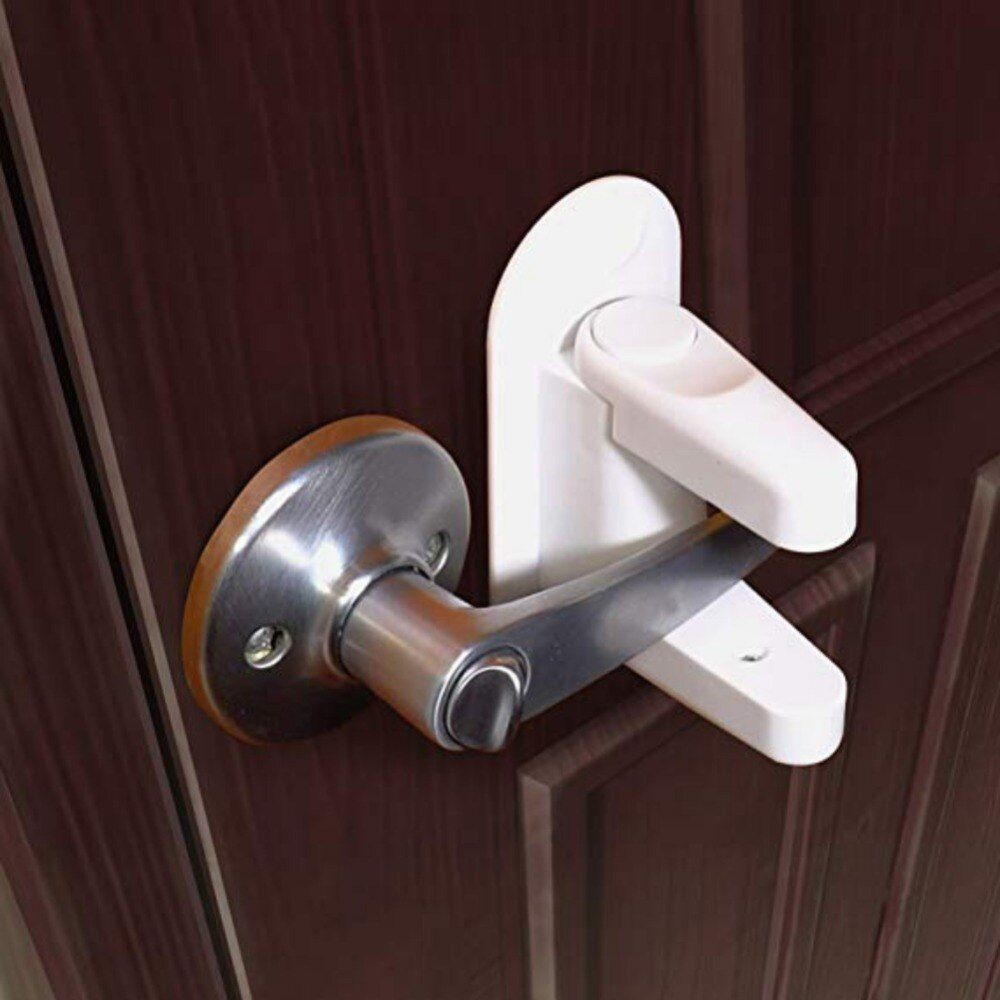 Safety Door Lever Locks Baby Children Proof Door Handle Lever Lock Self Adhesive Home Tools Children S Room Supplies Di 2020 Pintu