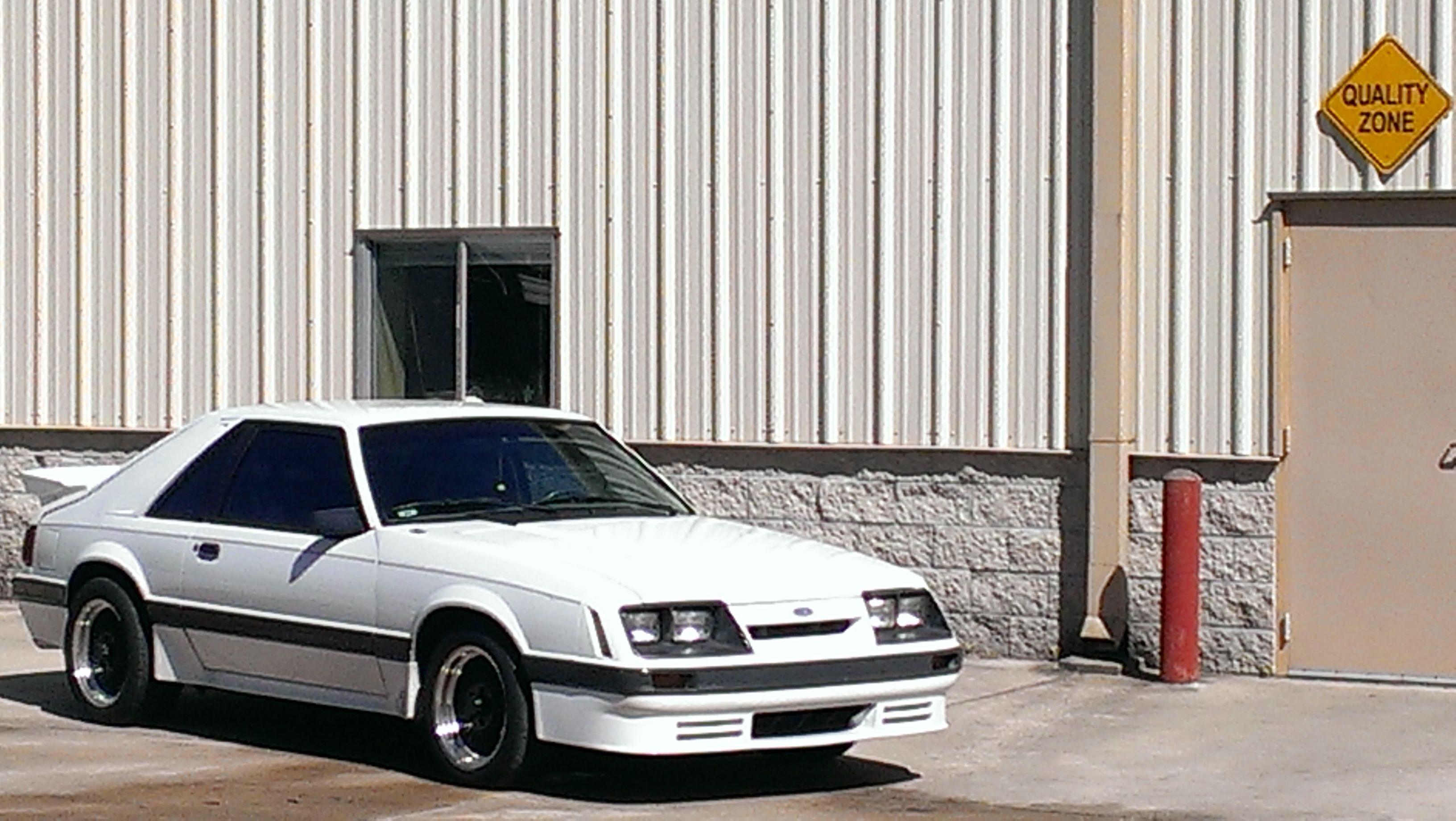 My ride 1986 mustang gt Saleen clone  Foxbody Mustang  Pinterest