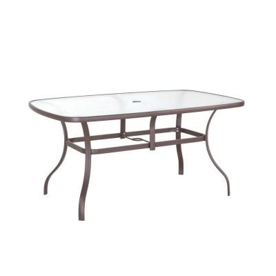 79 Navona 38 In X 60 Rectangular Gl Top Patio Dining Table Fts00502j The Home Depot