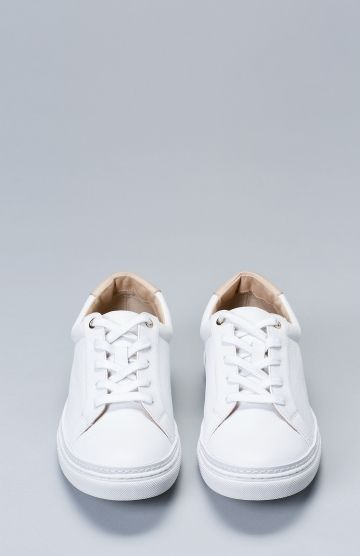Women S Leather Alta Sneakers Front View By Elk The Label