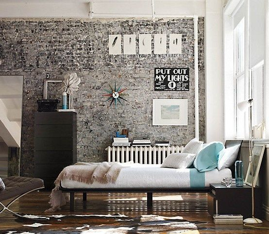 Como decorar tu dormitorio con paredes de ladrillo a la for Ideas para decorar una recamara