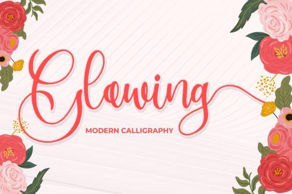 Download Glowing (Font) by goodjavastudio · Creative Fabrica in ...