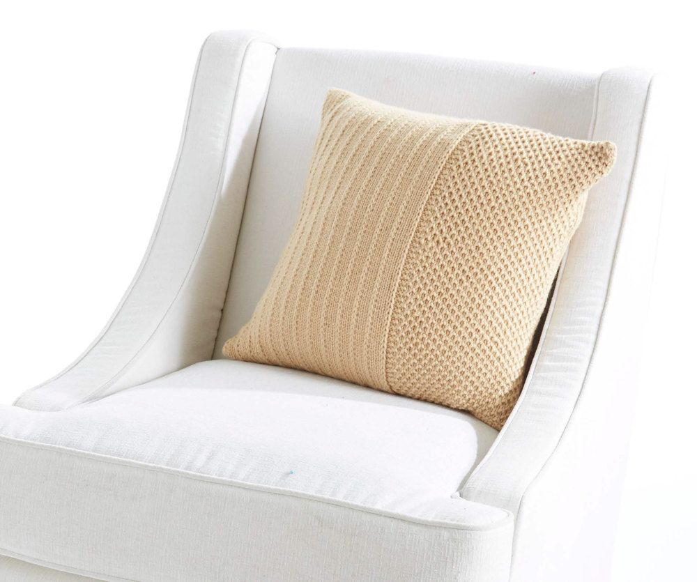 FREE Classic Textures Pillow knitting pattern in Caron Simply Soft ...
