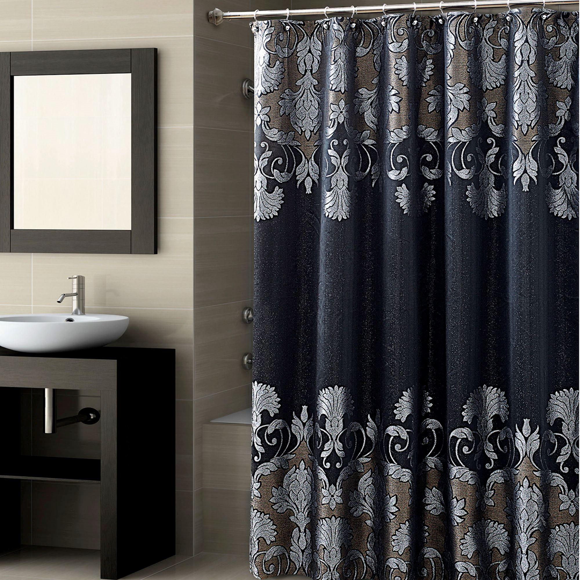 Castella Shower Curtain Black 72 X 72 Shower Curtain Decor Black Shower Curtains Fabric Shower Curtains