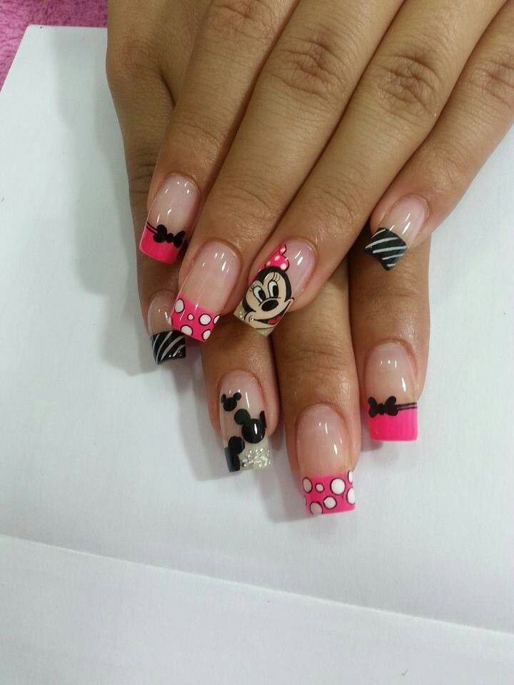 Uñas minnie | UÑAS | Pinterest