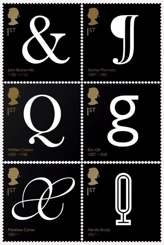 Royal Mail Stamps British Typographers Typography