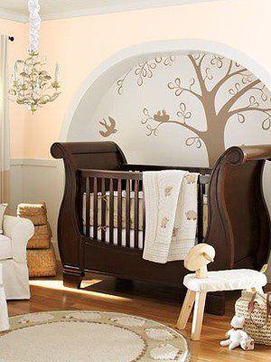 25 Modern Nursery Design Ideas   Cunas de madera, Madera oscura y Oscuro