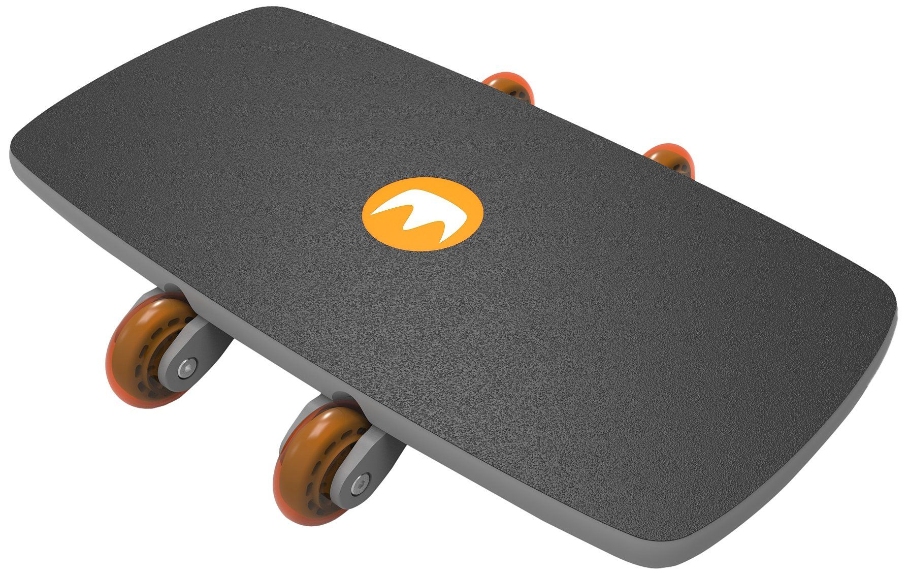 Modern Movement Roll-Board Extension Trainer, Dark Grey/Orange. Low step-on height for more natural movements. Non-marking urethane wheels can be used on hardwood floors or carpets. Workout poster and DVD included.