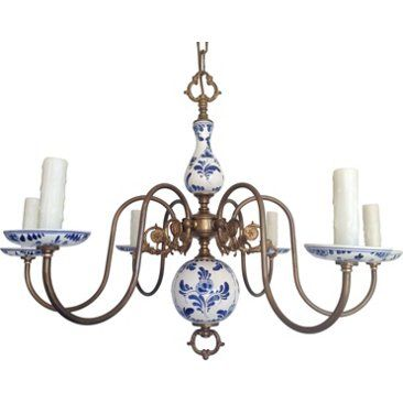 Check Out This Item At One Kings Lane Blue White Porcelain Chandelier