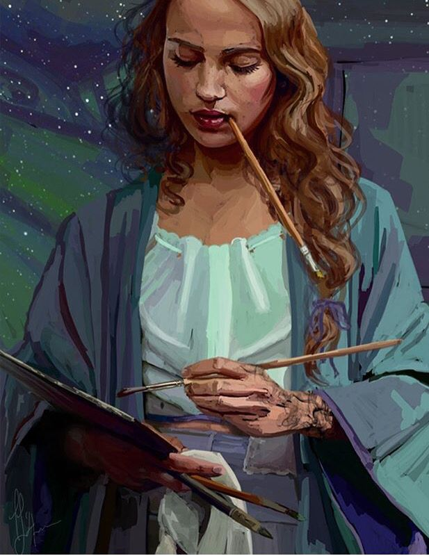 Feyre Painting A Court Of Mist And Fury Sarah J Mass A Court Of