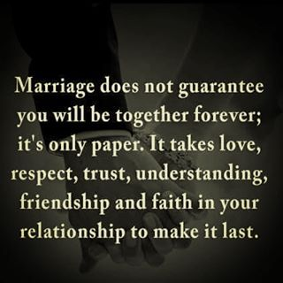 marriage does not #guarantee staying together #forever ...
