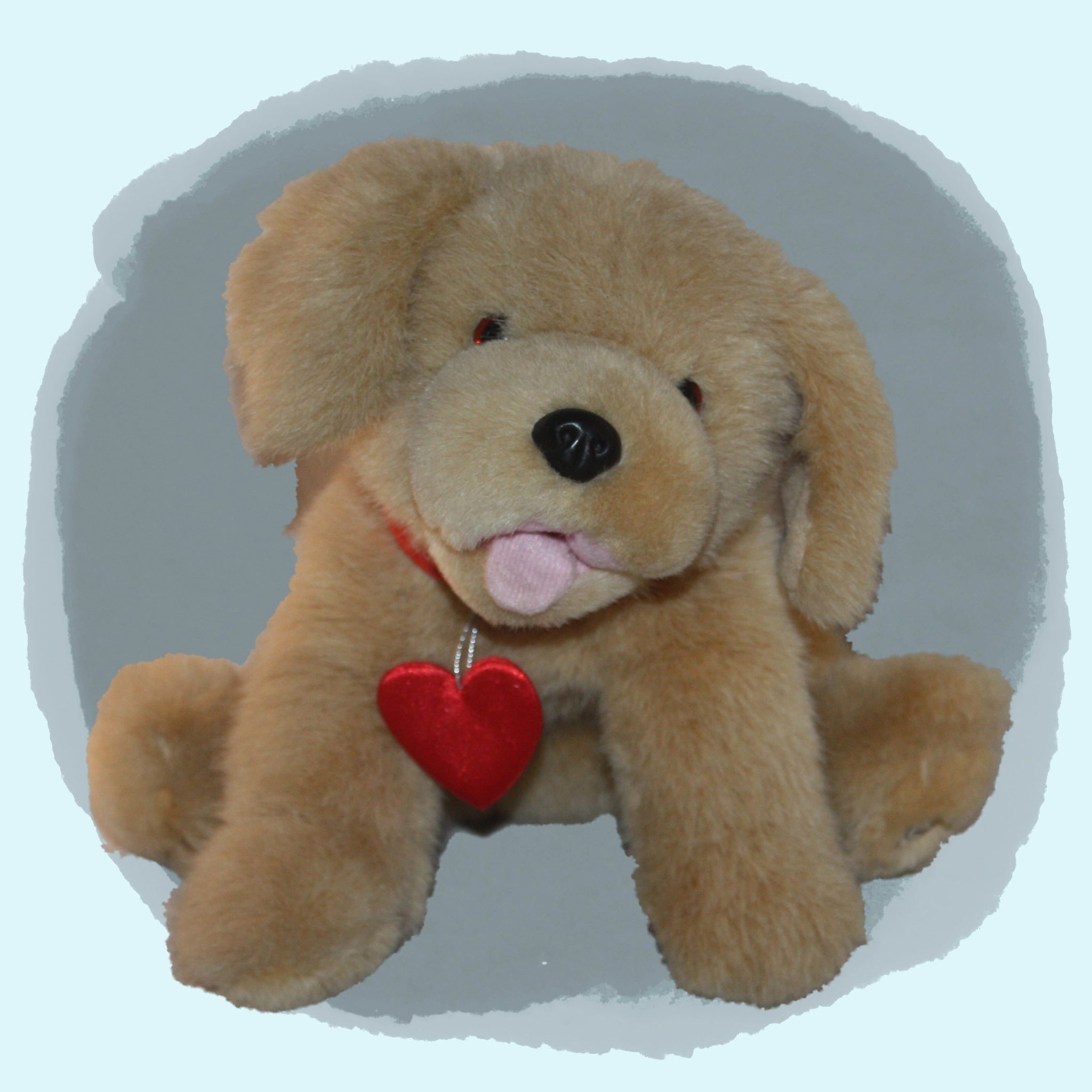 Hallmark Tan Puppy Dog With Tongue Out Red Heart Dogs And Puppies Puppies Hallmark [ 2048 x 2048 Pixel ]