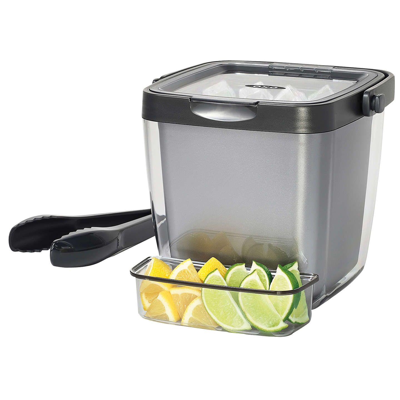 Oxo Double Wall Ice Bucket Bucket Tray Kitchen Essentials