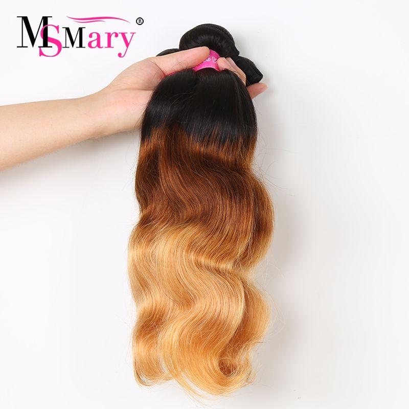 1b 4 27 Hair Color Brazilian Body Wave Human Hair Extension Cuticle