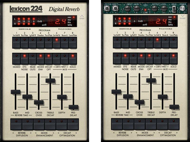 Lexicon® 224 Digital Reverb Plug-In   Universal Audio   MUSIC MAKING ...