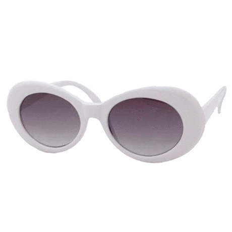 0839a04bbfc33 itGirl Shop COBAIN THICK ROUND FRAME ALIEN SUNGLASSES Aesthetic Apparel