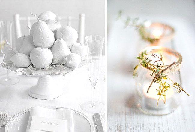 DIY Winter Table Decor Ideas |   http://www.rosesandlace.co.uk/diy-winter-table-decor-ideas/