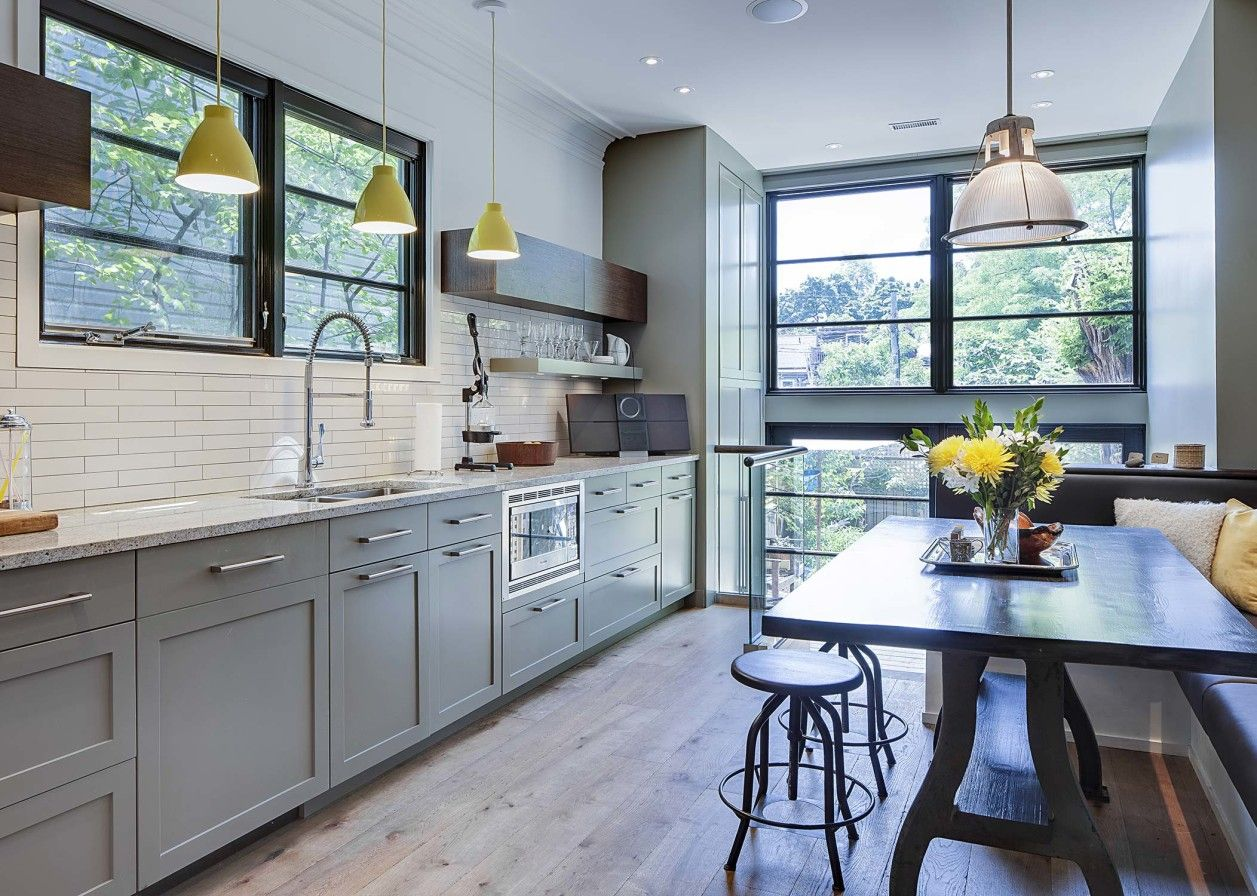 The focus for this whole home renovation - located in Toronto - was ...