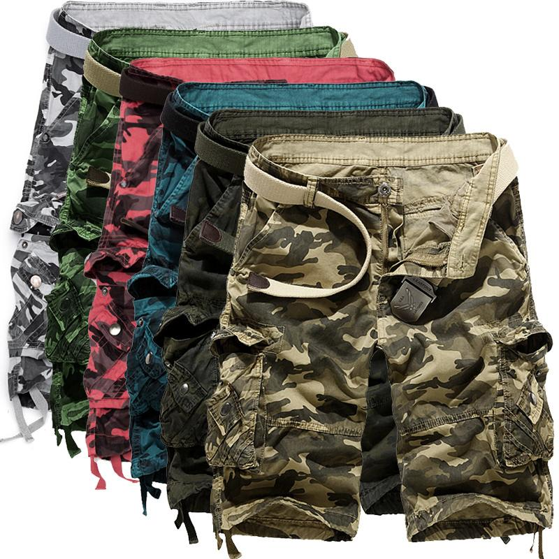New Mens Military Combat Camo Cargo Shorts Pants Work Casual Short Army Trouser