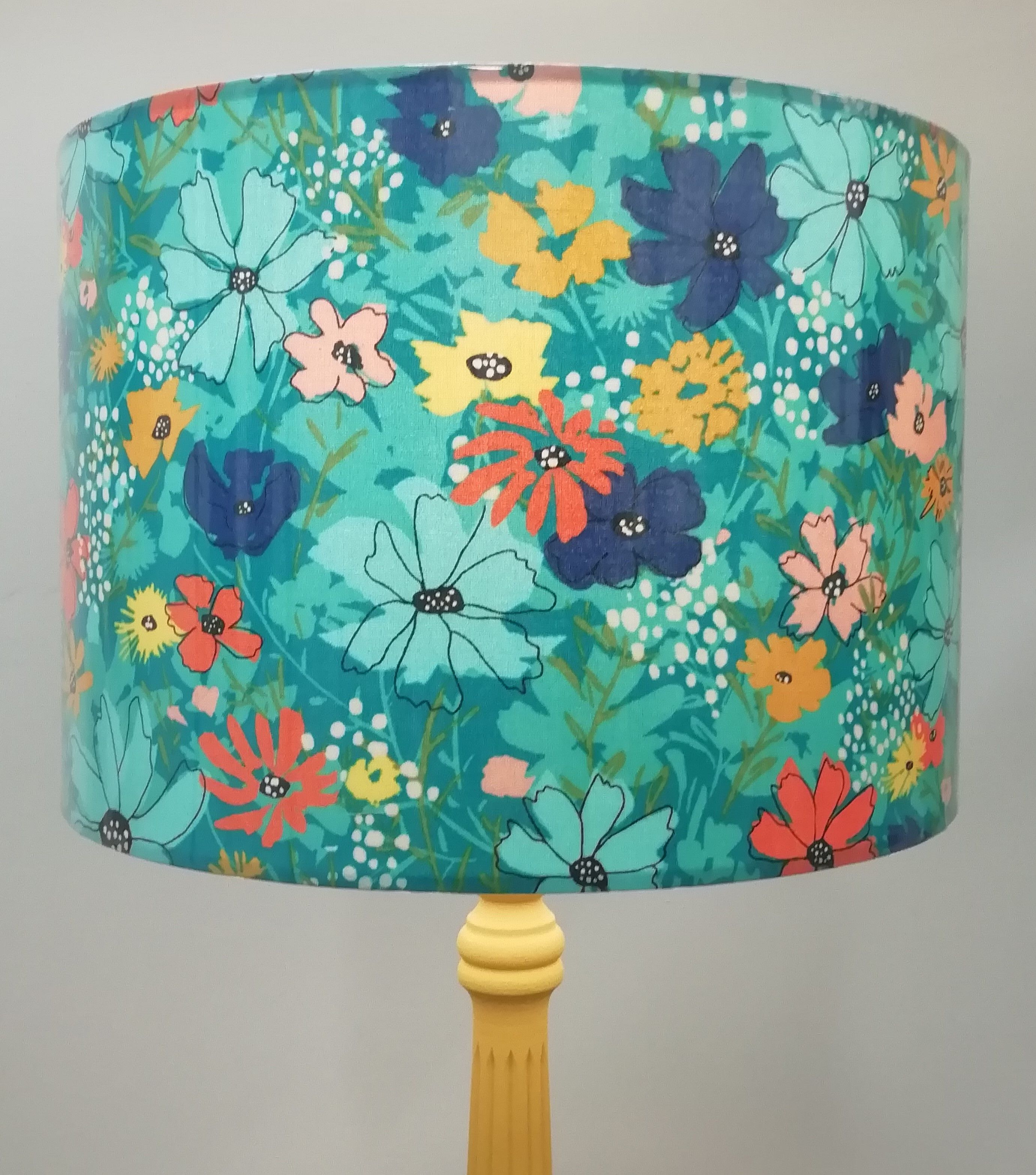 Turquoise Lampshade In 2020 Energy Bulbs Lampshades Modern Lamp Shades