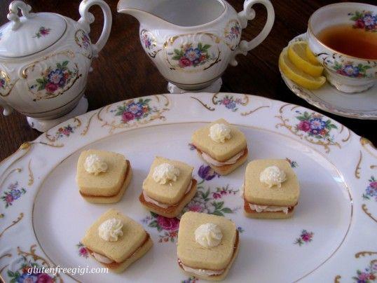 For the girl's Tea Party:  GF Lemon Tea Cookies!