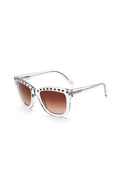 9a1da07fec Haley Studded Oversized Sunglasses in Crystal