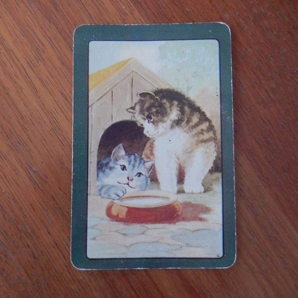 Coles Swap Card Single Cats With Bowl Of Milk Swap Cards Cards Vintage Cards
