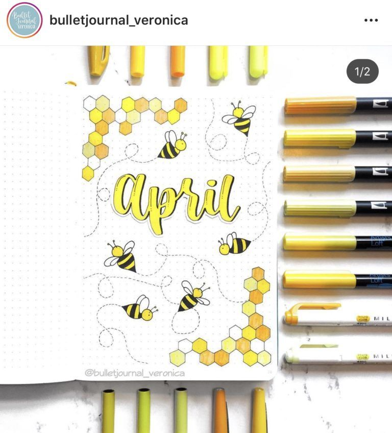 April Bullet Journal Inspiration - Rae's Daily Page