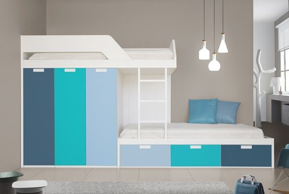 Funky Bunk Kids Staggered Bunk Beds Funky Space Saving Furniture