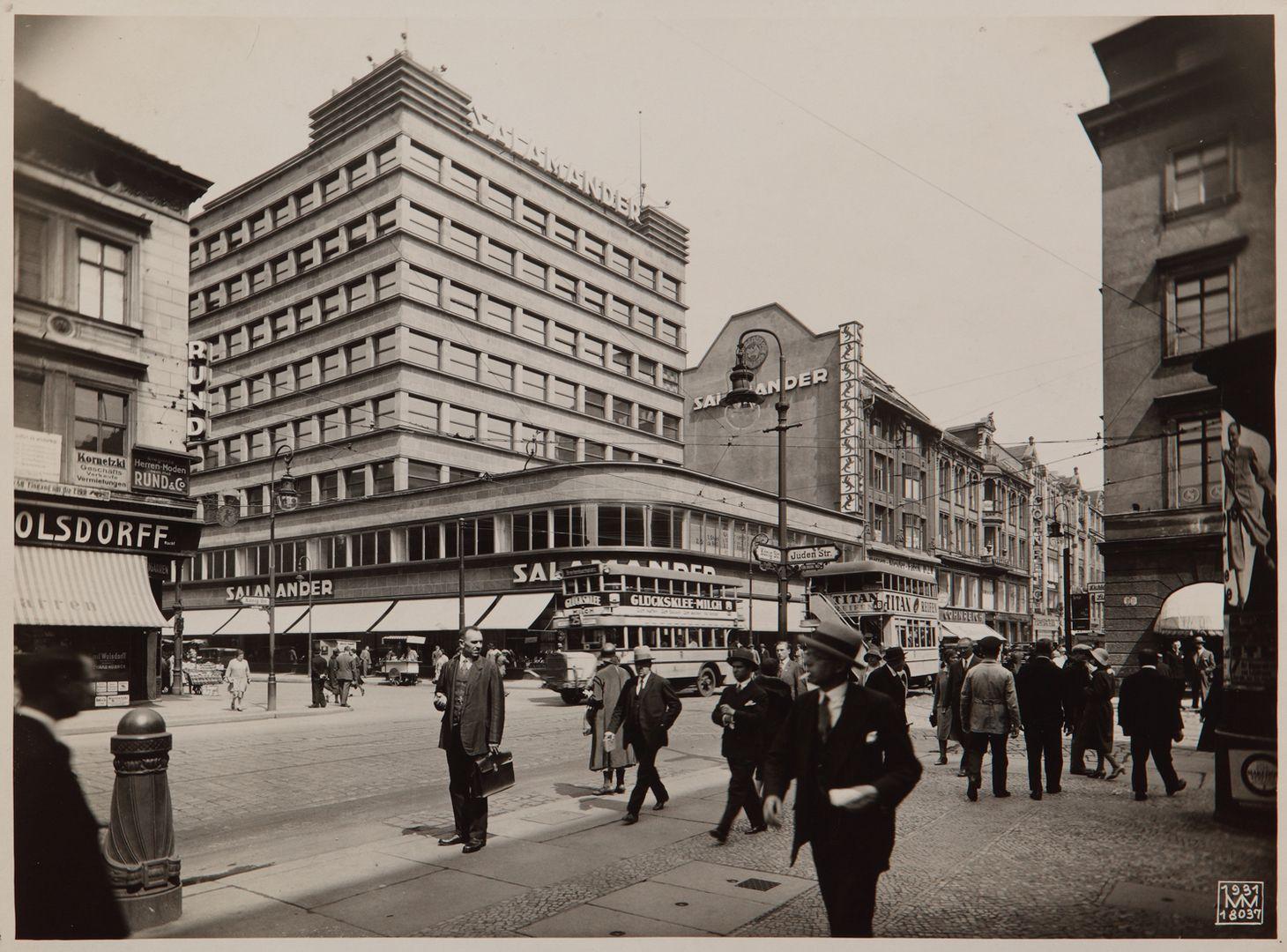 Berlin 1930 das salamanderhaus moderne architektur for Architektur 1960