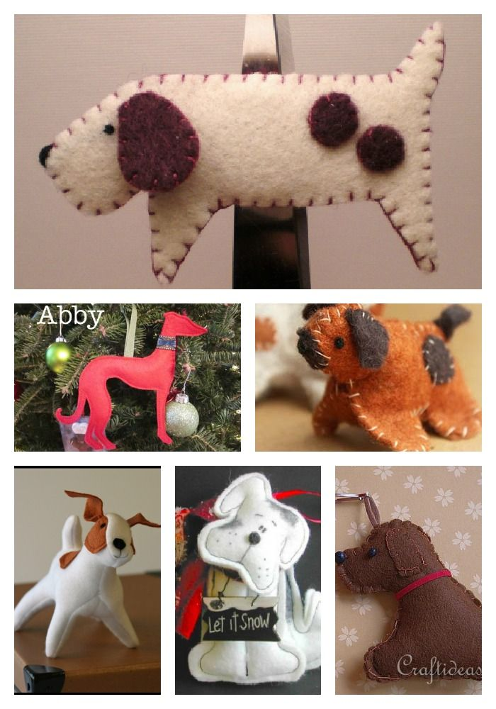 Make It A Canine Christmas Diy Dog Ornaments Felt Dog Ornament