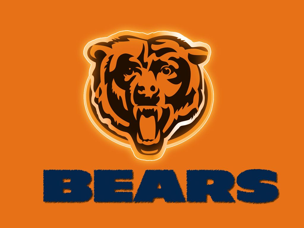 Orange and Blue Chicago bears wallpaper, Chicago bears