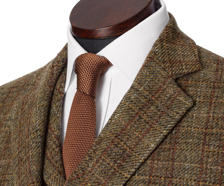 ae8636aad13d James Men's Tweed Suit Jacket in Grey Wide Herringbone Shetland Tweed -  Walker Slater