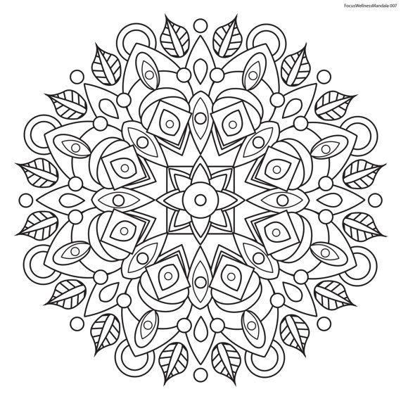 Focus Wellness Mandala No 7 For Coloring Mandala Coloring Pages