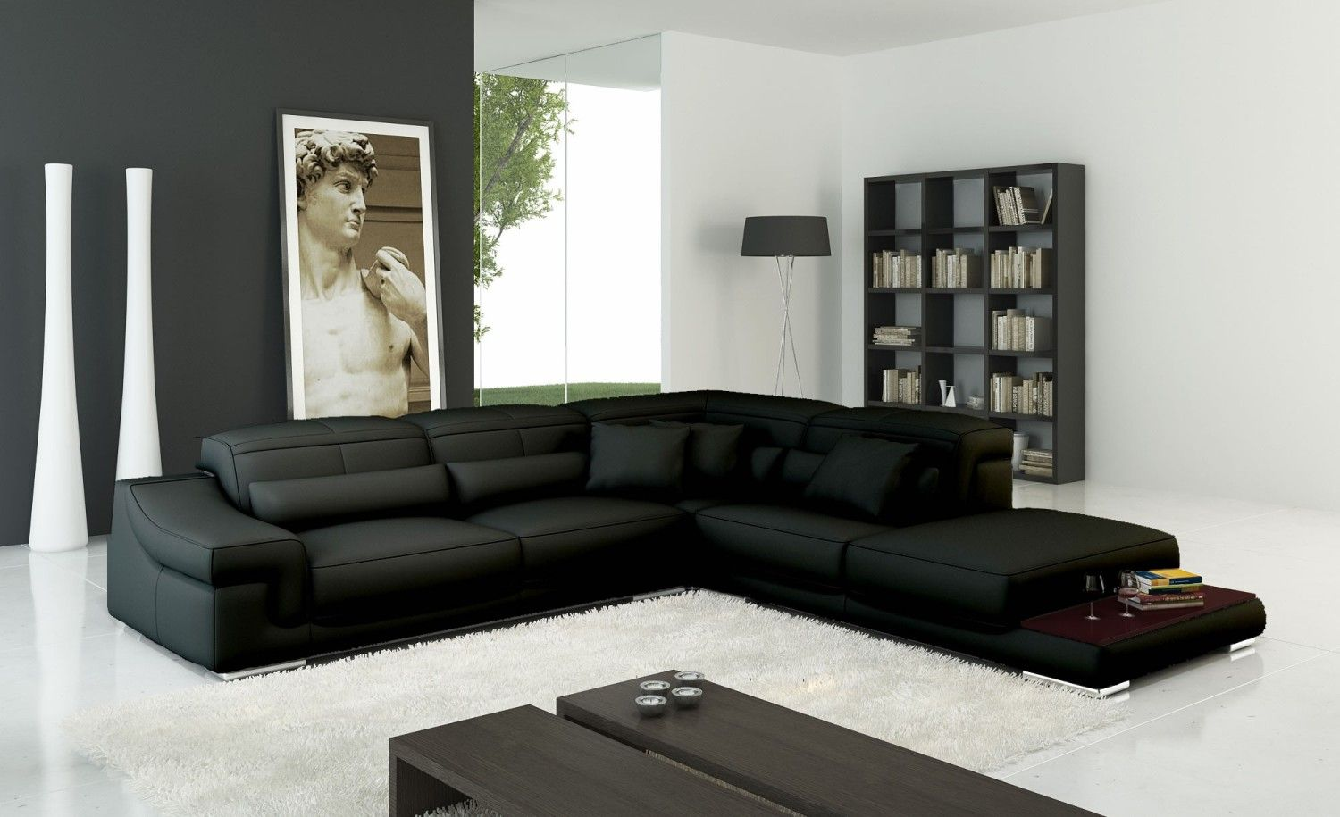 Grey Leather Corner Sofa Uk Steel Set Designs With Price In Chennai How To Clean Your Black 2018 Pinterest