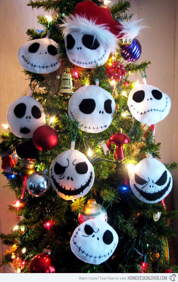 Nightmare Before Christmas Christbaumkugeln.15 Creative Diy Christmas Tree Ornaments For The Home Nightmare