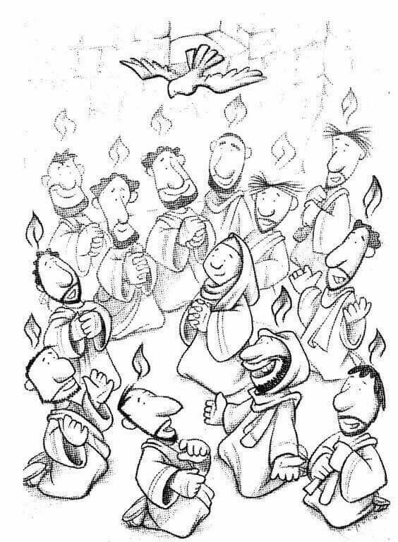 Pin Oleh Andrea Garrido Di Pentecostes Halaman Mewarnai