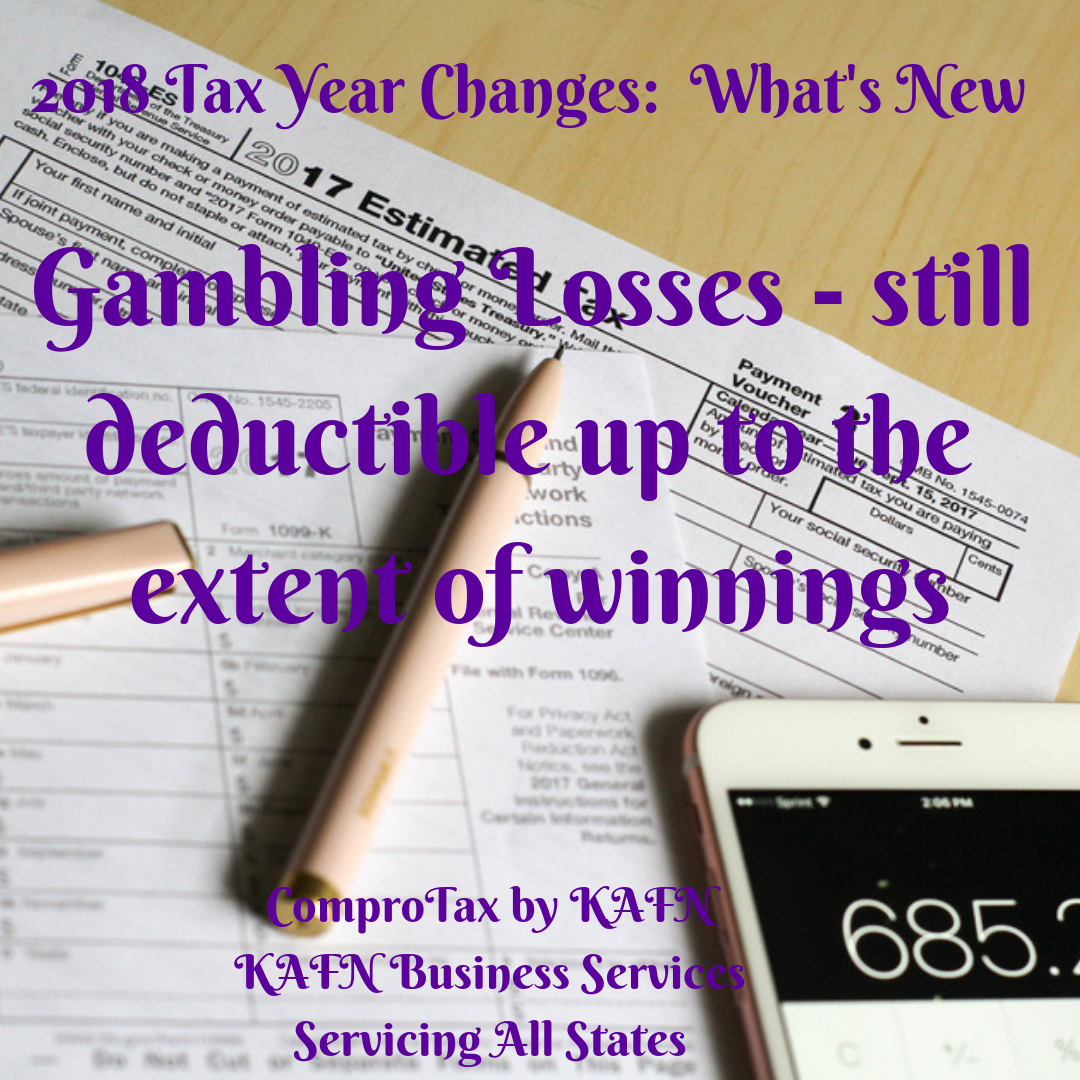 You Can Claim Your Gambling Losses Up To Your Winning Amounts