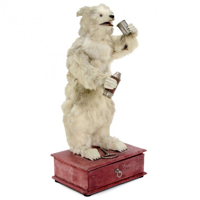 Rare Drinking Polar Bear Automaton by Decamps, c. 1920 : Lot 584