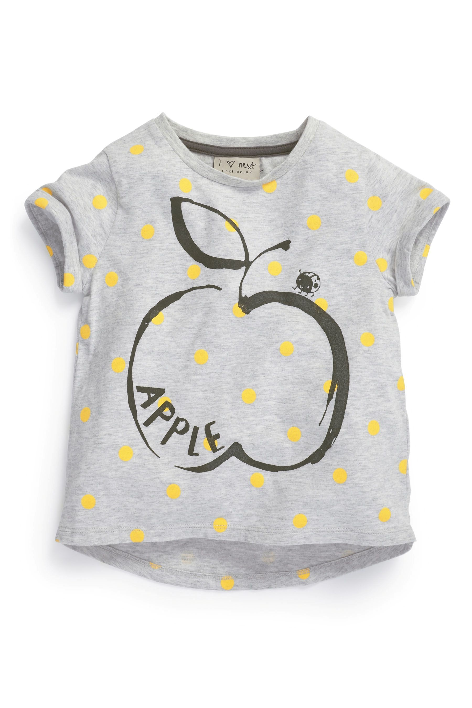 Buy Grey Sketchy Apple Top 3mths 6yrs from the Next UK online shop