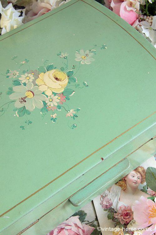 Vintage Home - Beautiful Hand Painted Baby's Keepsake Box: www.vintage-home.co.uk