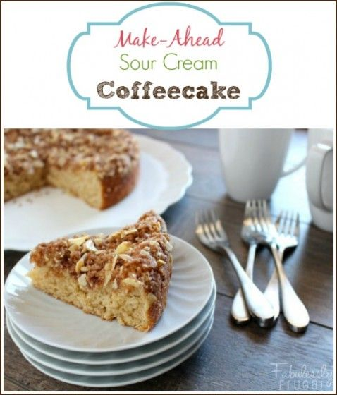 Overnight Coffeecake Recipe Overnight Coffee Cake Recipe Sour Cream Recipes Coffee Cake