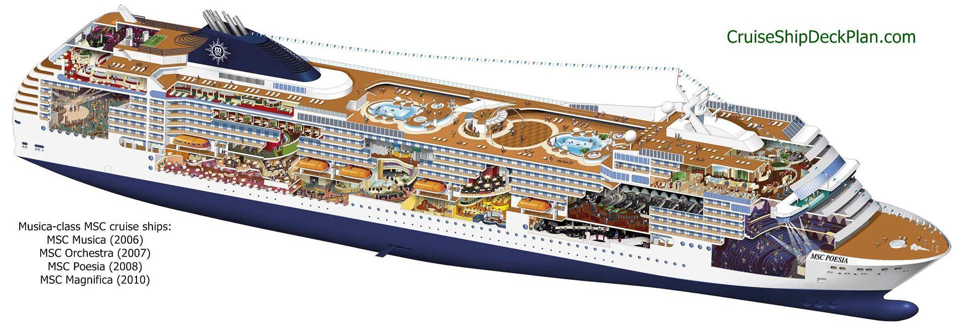MSCMusicainfographicjpg Drawing Narrative Pinterest - Cruise ship floor plans