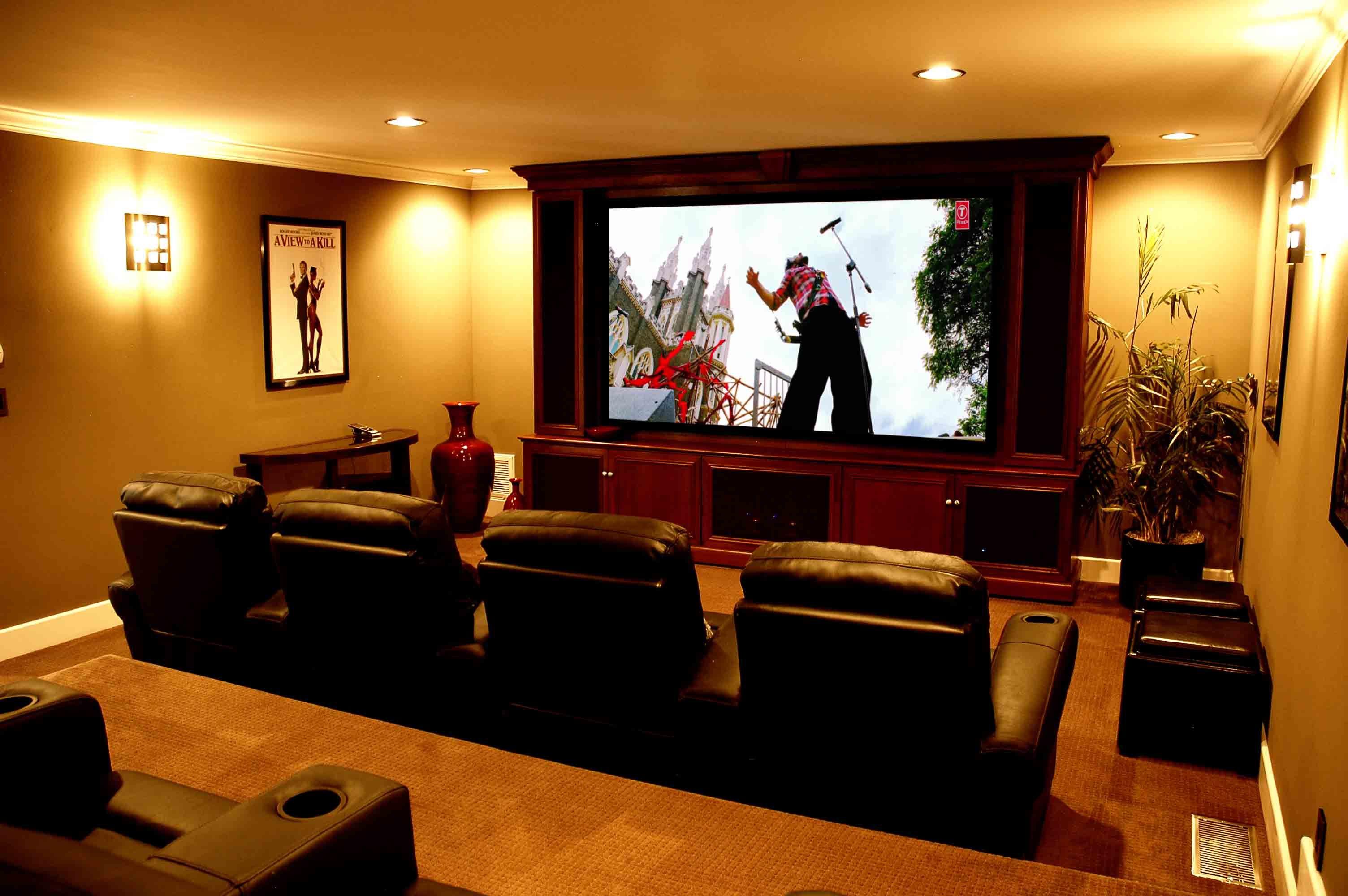 15 Simple Elegant And Affordable Home Cinema Room Ideas Cinema  # Deco Table Tele Plus Homecimema